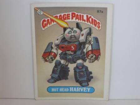 087a Hot Head HARVEY [No (C)] 1986 Topps Garbage Pail Kids Card